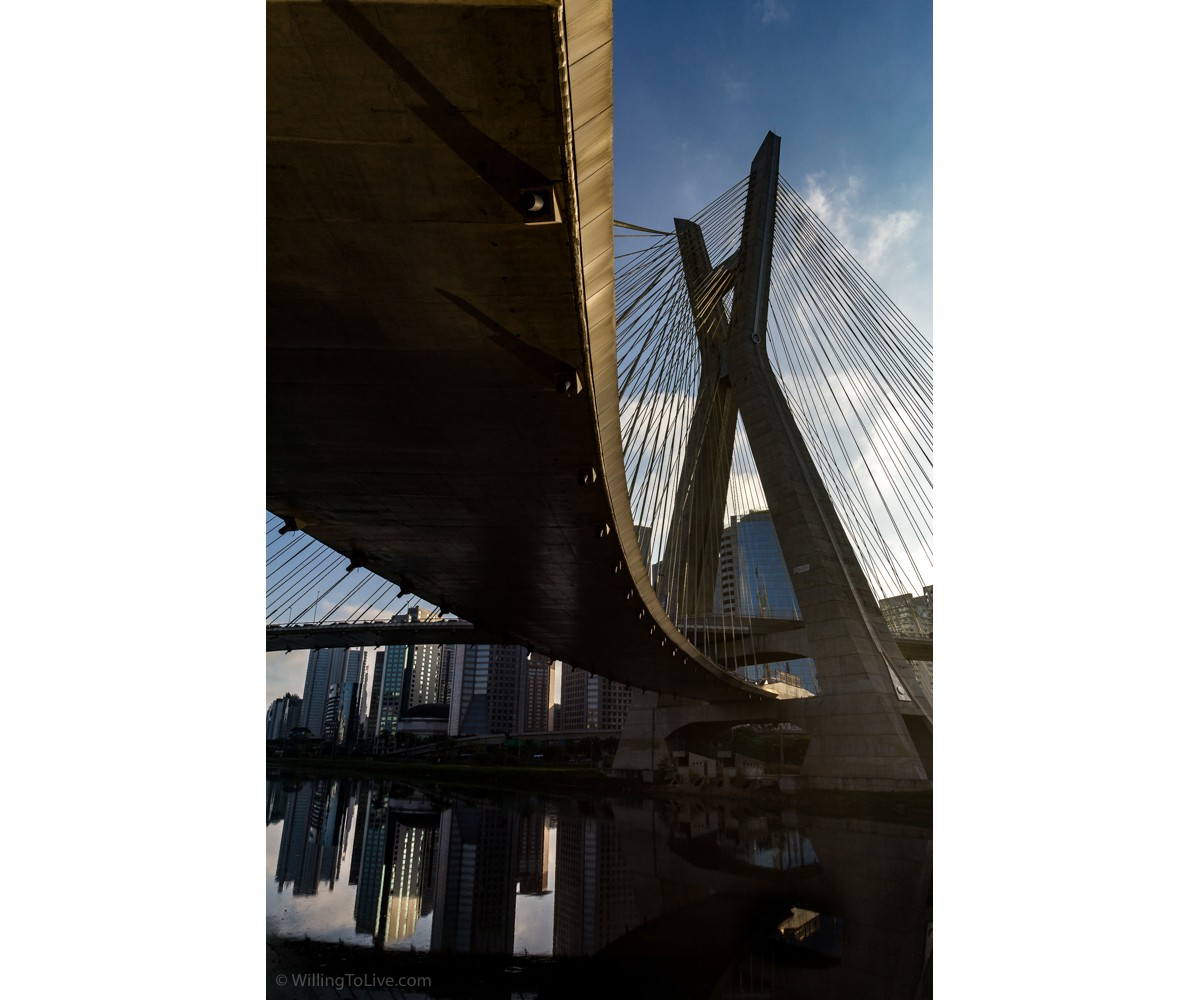 View from almost under the bridge | ISO 100; 25mm equiv.; f/11; 1/250s